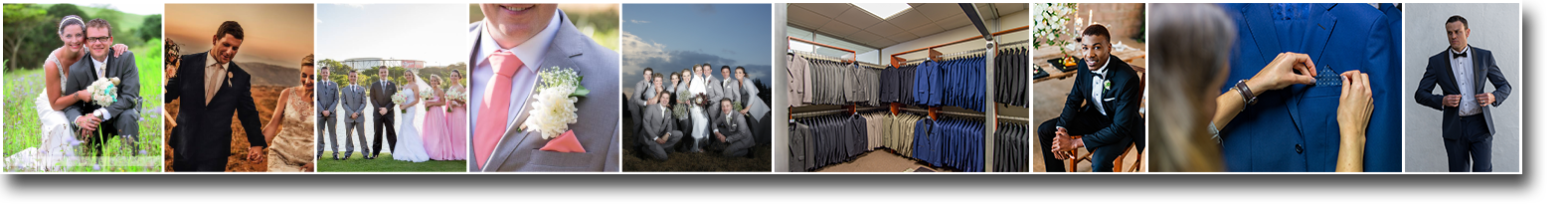 wedding and suit hire banner